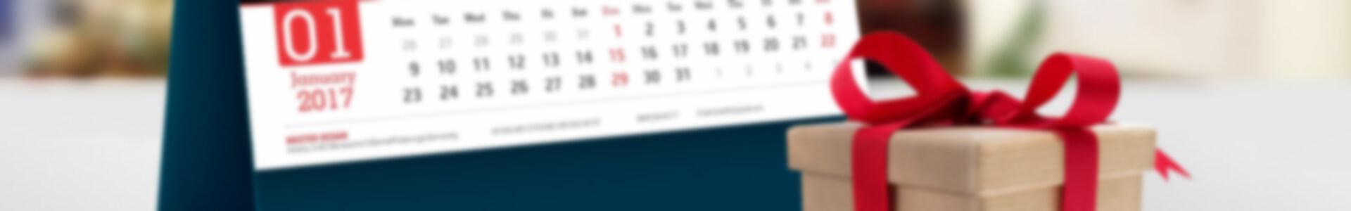 Free Desk Calendar Mockup PSD - In lịch tường, lịch bàn