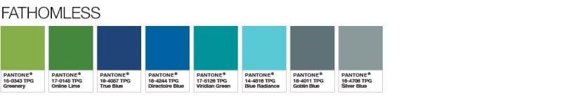 Pantone Color of the Year 2017 Color Palette 6 800x144 - Màu của năm 2017 – Greenery