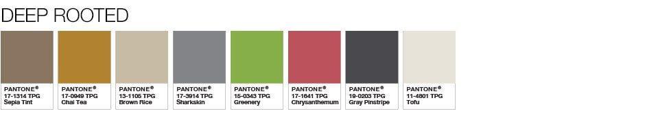 Pantone Color of the Year 2017 Color Palette 9 - Màu của năm 2017 – Greenery