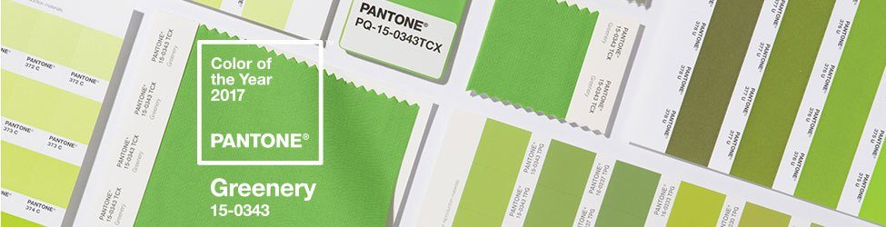 Pantone Color of the Year Greenery Color Formulas Guides Banner - Màu của năm 2017 – Greenery