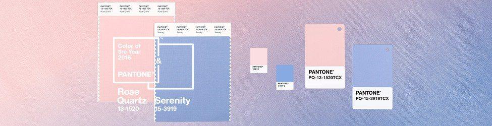 Pantone Color of the Year Rose Quartz Serenity Color Formulas Guides Banner - Màu của năm 2017 – Greenery
