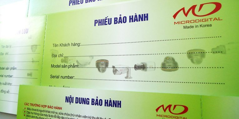 phieu bao hanh MD1 - In phiếu bảo hành