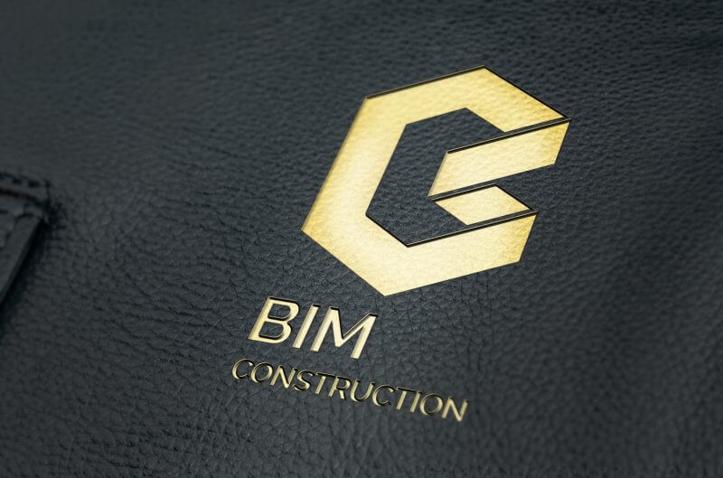 Embossed Leather Mock Up v1 800x529 - Bim Construction