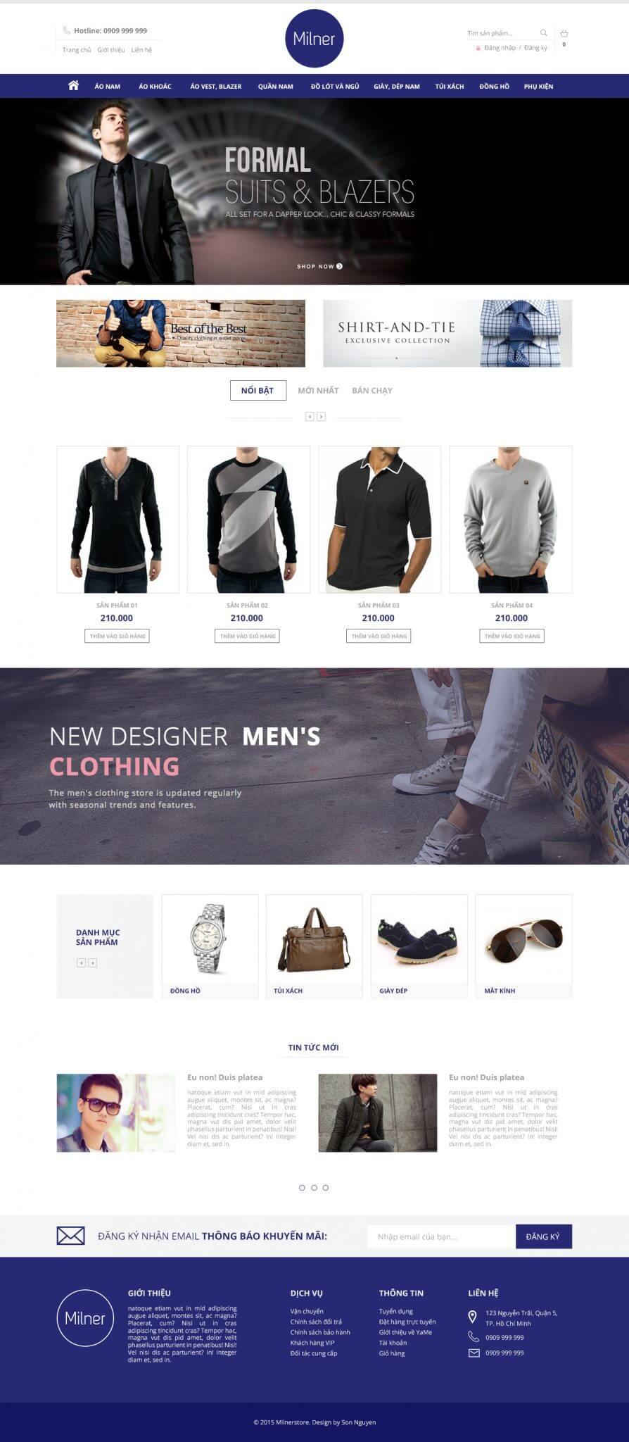 Milner Homepage demo - Milner Fashion