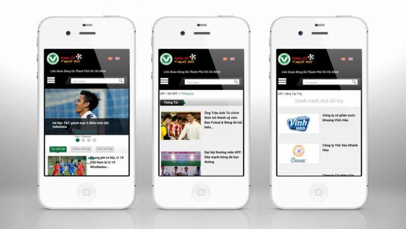 iPhone 4S white 3views mockup copy 800x451 - Liên Đoàn Bóng Đá TP.HCM