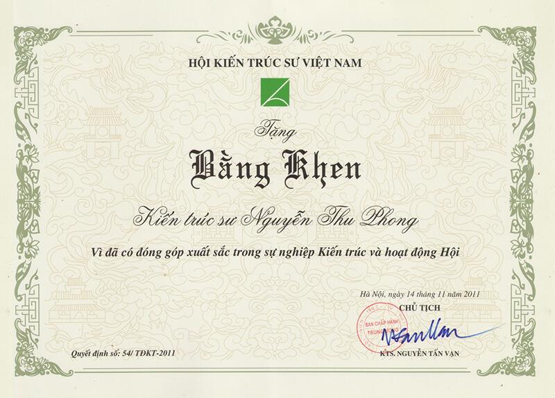 Giay khen hoi KTS Vietnam - In chứng nhận, giấy khen