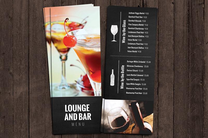 bar lounge drink menu mockup2  - In menu - thực đơn