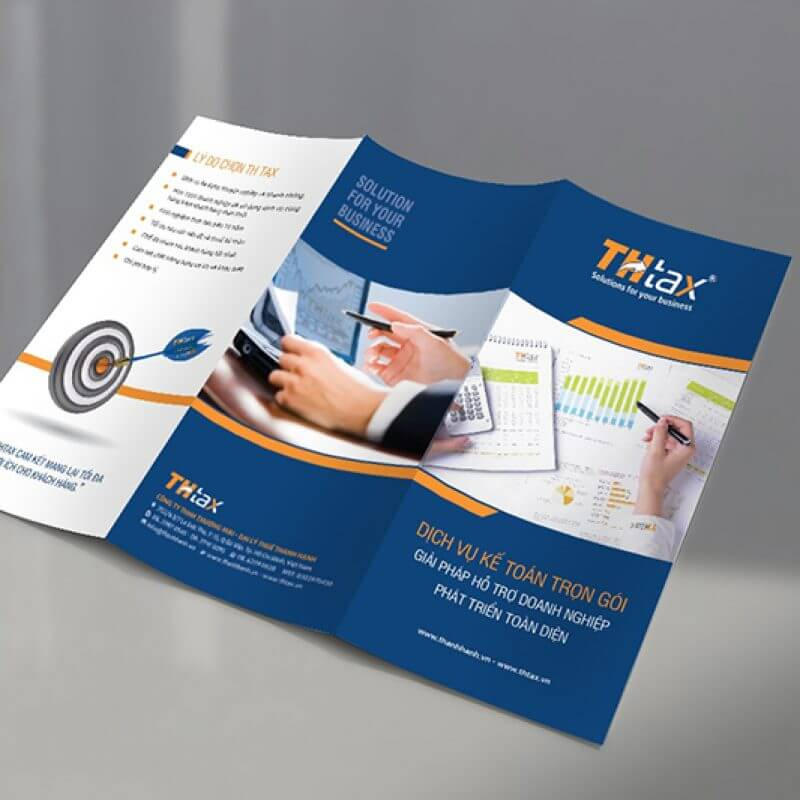 thiet ke brochure TH TAX up web 3 800x800 - 5 lời khuyên để thiết kế tờ rơi hiệu quả trong chiến lược Marketing?