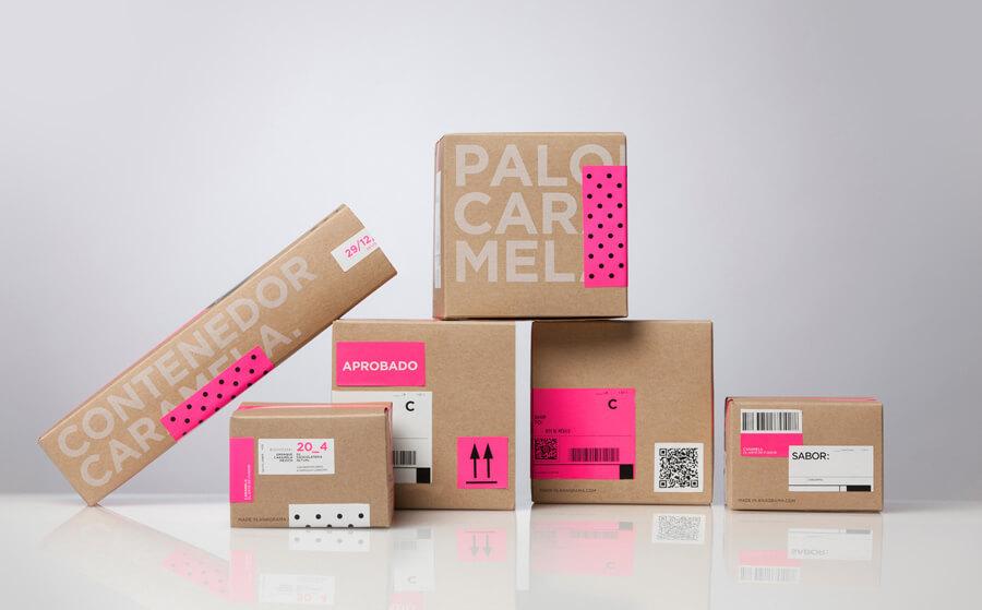 01 Caramela Packaging Anagrama on BPO - Tìm hiểu về kĩ thuật thiết kế bao bì giấy