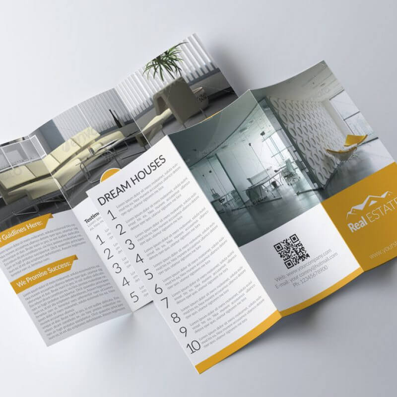 tri fold real estate brochure by designhub719 d81swiz 800x800 - Khuyễn mãi Tháng 12: Miễn phí thiết kế tờ rơi, tờ gấp khi đặt in tại Kiến Tạo