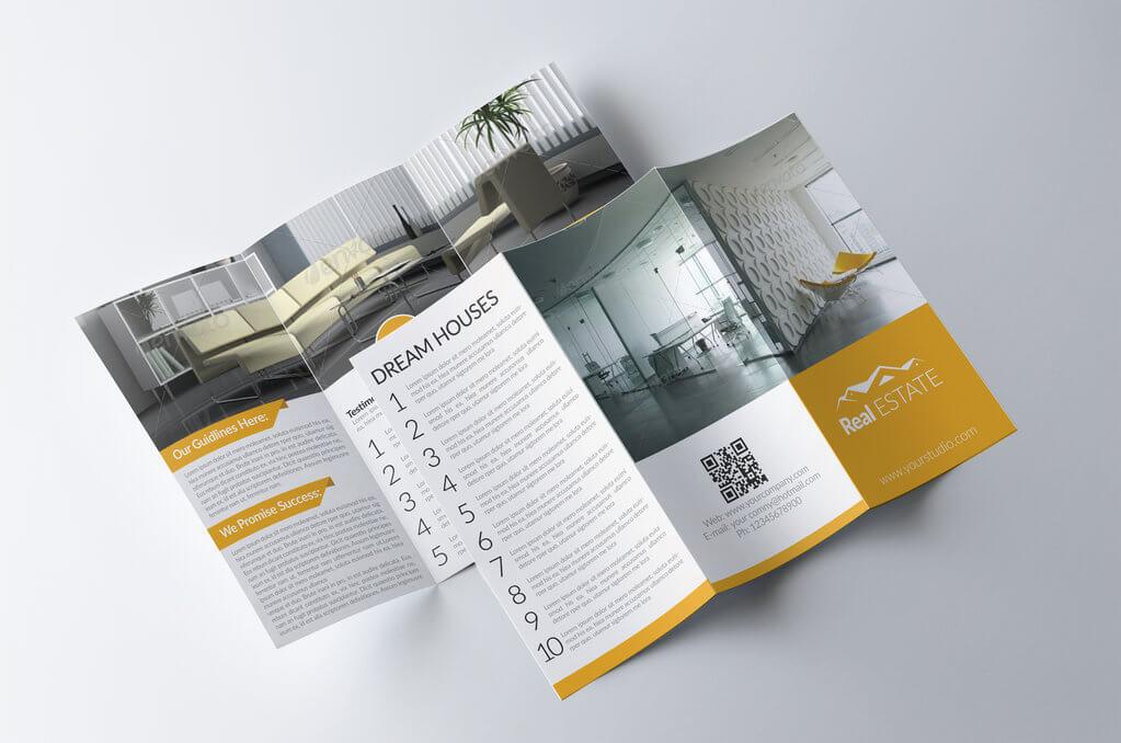 tri fold real estate brochure by designhub719 d81swiz - 5 lời khuyên để thiết kế tờ rơi hiệu quả trong chiến lược Marketing?