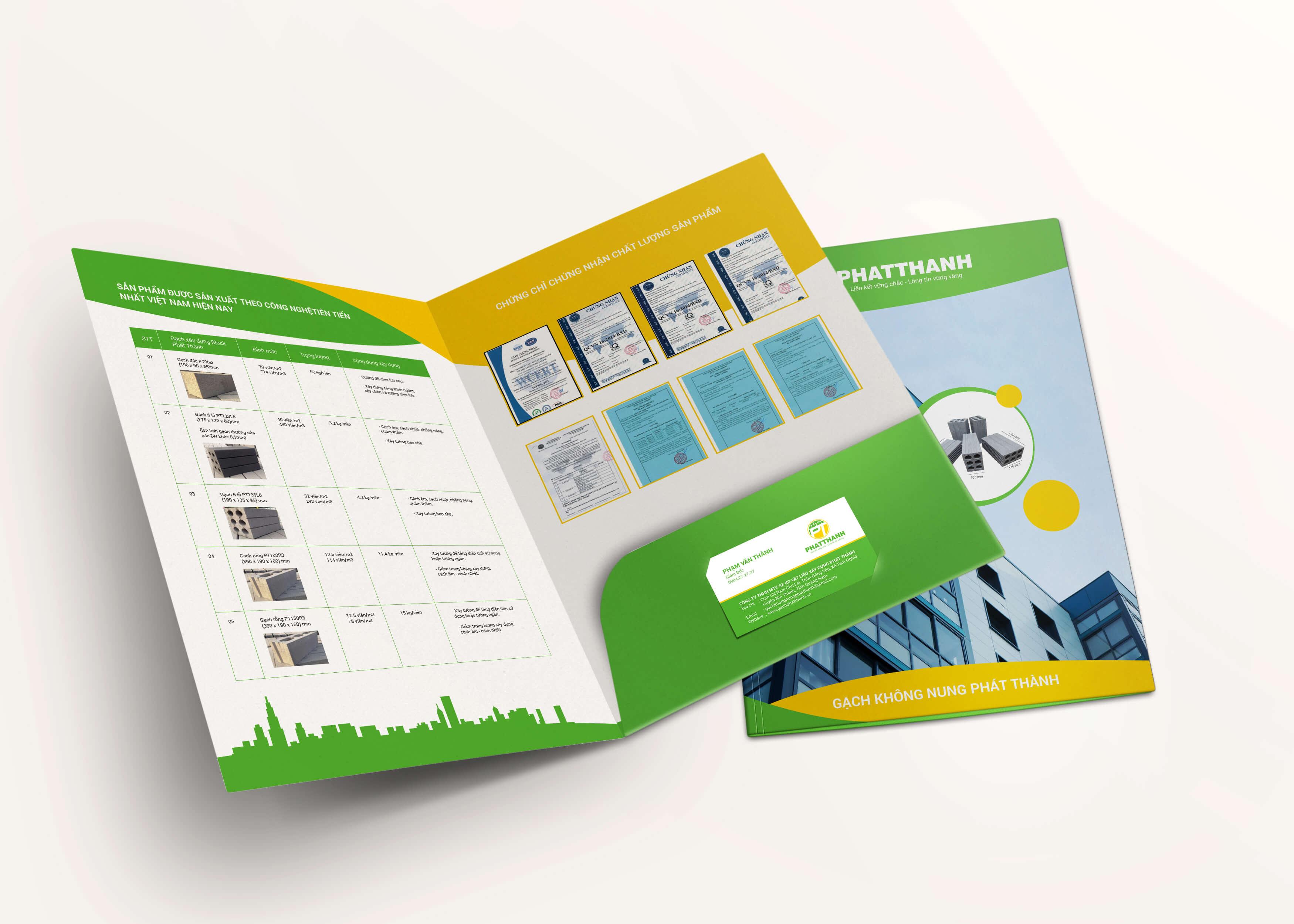 Folder mat trong - Bộ nhận diện thương hiệu _ bước đầu tạo nên thương hiệu cho công ty