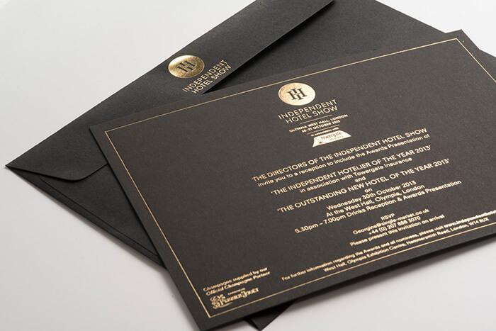 thiep ep kim den - 5 kiểu gia công bao thư được ưa chuộng nhất năm 2018