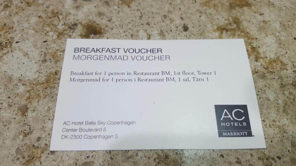 Hotel BREAKFAST VOUCHER DaNang - Các sản phẩm in ấn dành cho khách sạn, resort tại Đà Nẵng