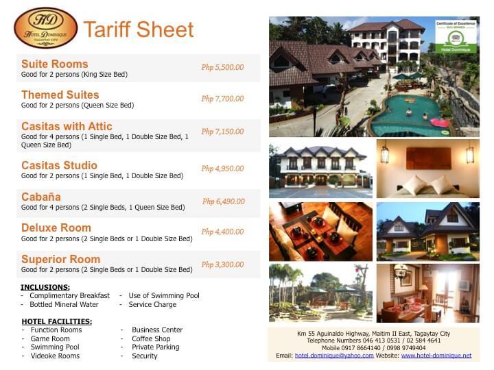 Hotel ROOM TARIFF SHEET DaNang - Các sản phẩm in ấn dành cho khách sạn, resort tại Đà Nẵng